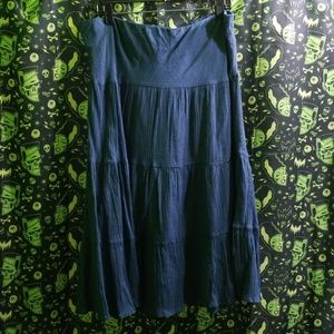 Blue Comfy Flowy Maxi Skirt